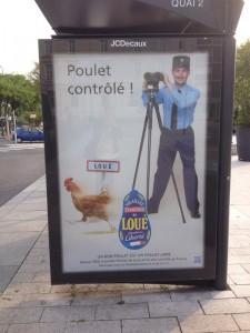 poulet de loué la publicité qui fait le buzz