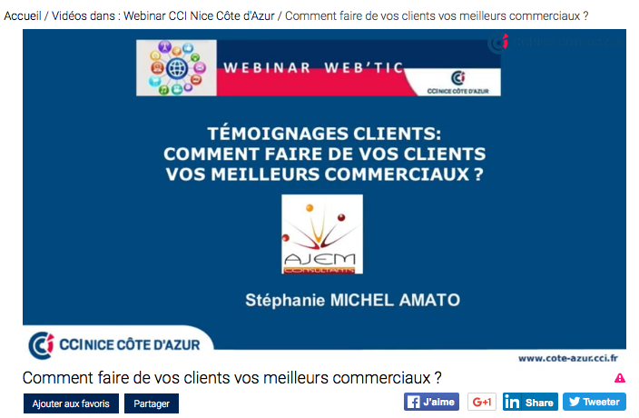Webinar témoignages clients AJEM CONSULTANTS