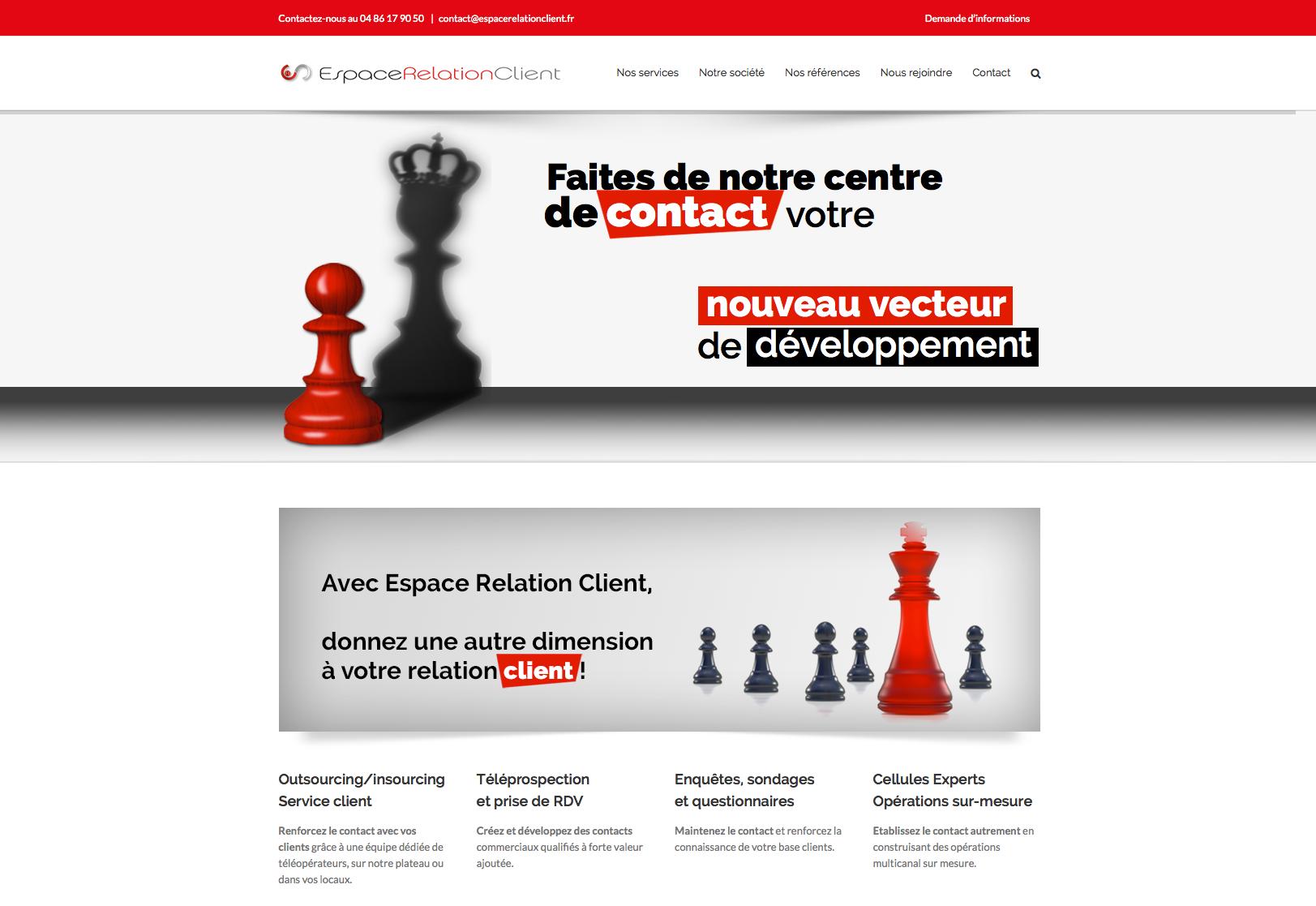 site web espace relation client