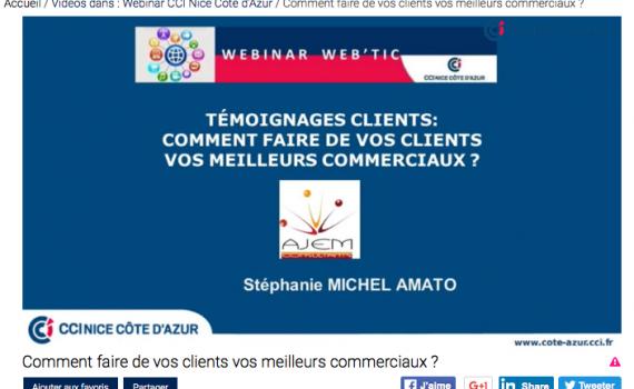 Webinar témoignages clients AJEM CONSULTANTS